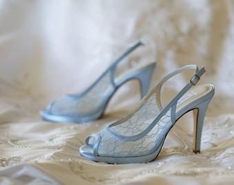 Items similar to Something Blue Wedding Shoes, Powder Blue Wedding ...