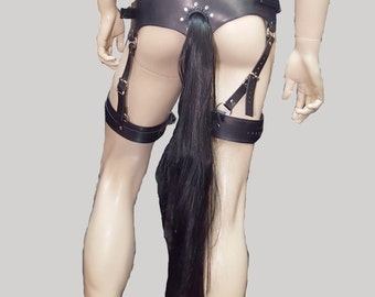 Pony Play Tail Harness Made with Genuine Horse Hair