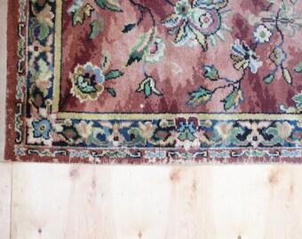 vintage rustic floral rug