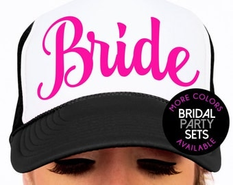 Custom Bridal Party Wedding Hat Sets Matron & Maid of Honor Hats - Set of 2, 3, 4, 5, 6, 7, 8, 9 or 10.