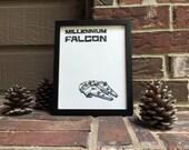 """8""""x10"""" Millennium Falcon Wrapped Canvas"""