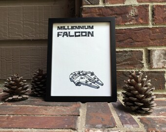 "8""x10"" Millennium Falcon Wrapped Canvas"