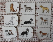 Puppy Dog Tags - Set of Nine Hand-Painted Tags