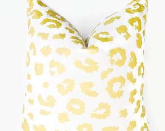 Leopard Summer Yellow Pillow