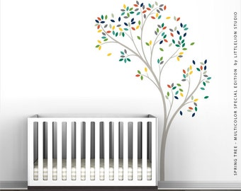 Spring Tree Wall Decal - Multicolor Special Edition BY LittleLion Studio