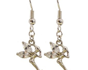 Tinkerbell Fairy Earrings - Kawaii Earrings, pixie dust, fairy dust, magic dust, fairy jewelry, miniature fairy, kawaii jewelry