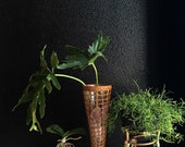 gorgeous tall woven wicker glass vase