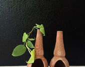 pair of mexican terra cotta planters