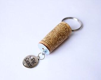 Big Sister Wine Cork Keychain,  Big Sister Charm Cork Keychain, Cork Keychain, Keychain, Charm Keychain, Charm