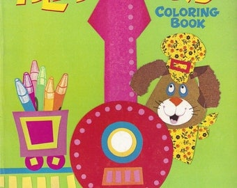 All Aboard Vintage Coloring Book, C1971