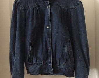 Vintage Learsi Flannel Lined Denim Jacket size small