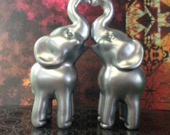 Modern Indian Elephant Wedding Cake Topper in Gold or Silver