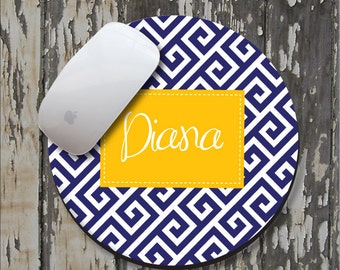 GREEK Personalized Mouse Pad, Personalized Mousepad, Monogrammed Mouse Pad, Monogrammed Mousepad, Custom Mouse Pad, Custom Mousepad