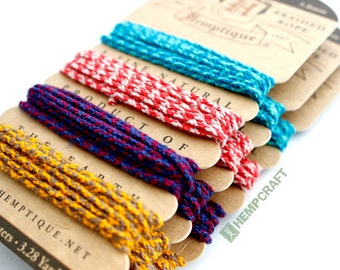 Hemp Rope, Colorful Hemp Cord, High Quality 1.8mm Braided Hemp Rope