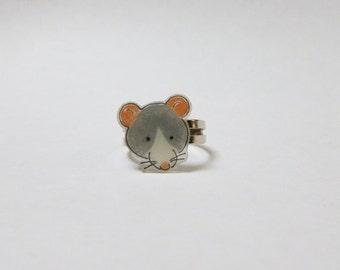 Fancy Rat Blazed Blue Rat Ring Pet Rat Jewellery