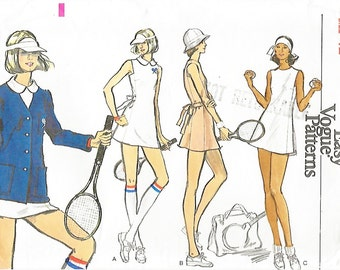Vogue 8549 Misses' 70s Tennis Jacket Dress and Briefs Sewing Pattern Bust 34