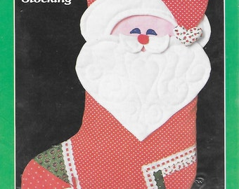 Yours Truly Santa Christmas Stocking 12 x 16 inch Sewing Pattern