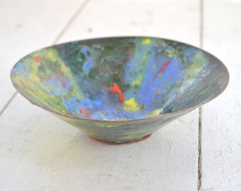 1960s Enamel and Copper Bowl