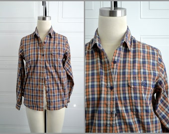 1970s Fox Collection Plaid Shirt