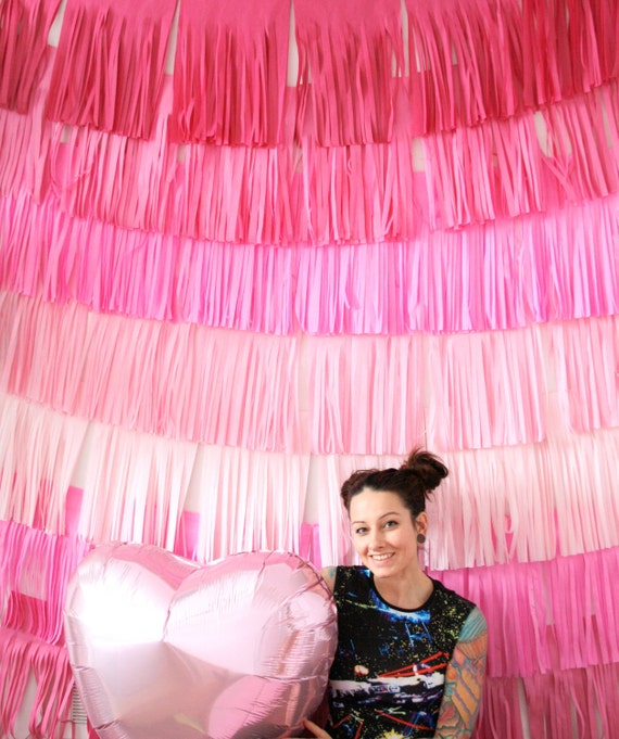 Valentines Day Decor Backdrop Fringe Curtain Photo Booth