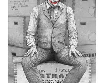Why so Serious? Giclee print of Heath Ledger as the Joker from the Dark Knight