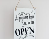 Open Business Sign, Open Closed Sign, Open Sign, Hanging Store Sign,  Office Sign, Salon, Wood Sign