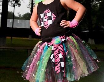 80s Chick Funky Tutu Dress Costume