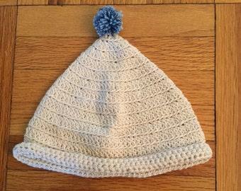 Organic Cotton Hand Crocheted Baby Beanie