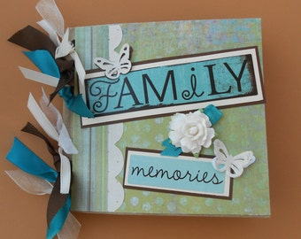 Family memories scrapbook album pre made