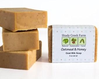 Goat Milk Soap Oatmeal and Honey Soap, Handmade Soap, All Natural Soap, Face Soap, Oatmeal Soap, Oat Soap, Goat Soap Unscented Soap