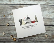 I Love London themed wedding/evening invitations - personalised