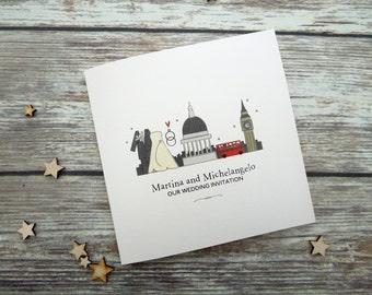 London Wedding Invitations // London Evening Invitations