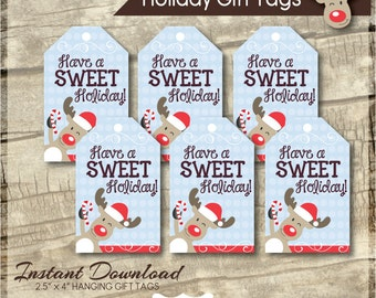 Holiday Gift Tags - Printable Gift Tag - Teacher Gift Tags - Hanging Gift Tags - Gift Tags - Treat Tags - Instant Download