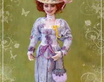 Mme MARIANNE  ooak  Edwardian lady 1:12 dollhouses doll by Soraya Merino