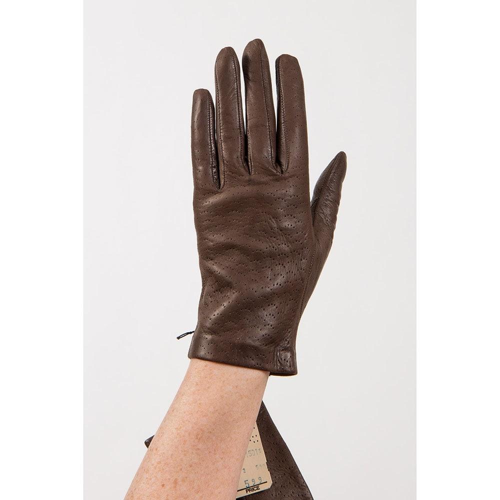 Leather gloves / Vintage driving gloves / Wrist length new old