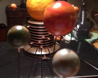 Artist Enhanced Mechanical Solar System Orrery Steampunk Lamp Planetary System Astronomy Model