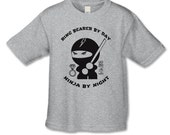 Ring Bearer Gift - Ninja T-Shirt - Personalized Bridal Party Gifts - Ring Bearer By Day, Ninja By Night - Handcrafted Wedding - Party Gifts