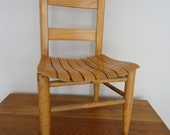 Vintage child's chair, wooden child's chair, vintage school chair, vintage oak child's chair