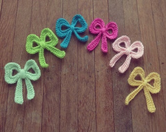 Crochet Pattern Bow Applique tutorial PDF ebook how to DIY - easy crochet applique pattern accessories - Instant DOWNLOAD