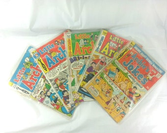 VINTAGE 1970s Little Archie Comic Book Lot Set of 5 Instant Collection Giant Series 76 81 105 108 211 Sabrina Reggie Jughead Veronica Betty