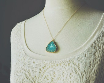 turquoise slice necklace.