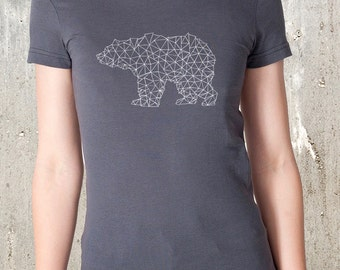 Bear Made of Triangles Women's T-Shirt - American Apparel - Available in S, M, L, XL and XXL