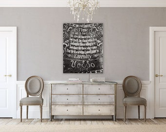 Canvas Wall Art: Love Poem Bedroom Art, Bedroom Decor, Romantic, Gallery Wrapped Canvas Wrap, Black and White, Romantic Wedding Gift.