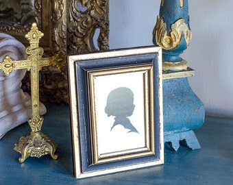 Vintage Silhouette, Girl Silhouette, Wood Frame