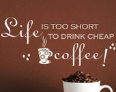 Vinyl Kitchen Decal-Cheap Coffee Decal-Coffee Shop Decals