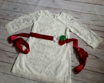 girls christmas dress, toddler christmas dress, baby christmas dress, girls christmas outfit, off white girls dress, lace dress
