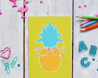 Pineapple Notebook | Colourful Note Book | Lined Notebook | Notepad | A6 Notebook | Pocket Note Book | Recyled