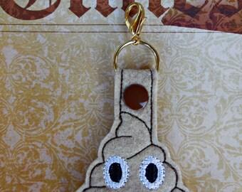 Felt Poop Key ring, Felt Key Chain, Key Fob/Charm, Key Ring, Poop Key Ring