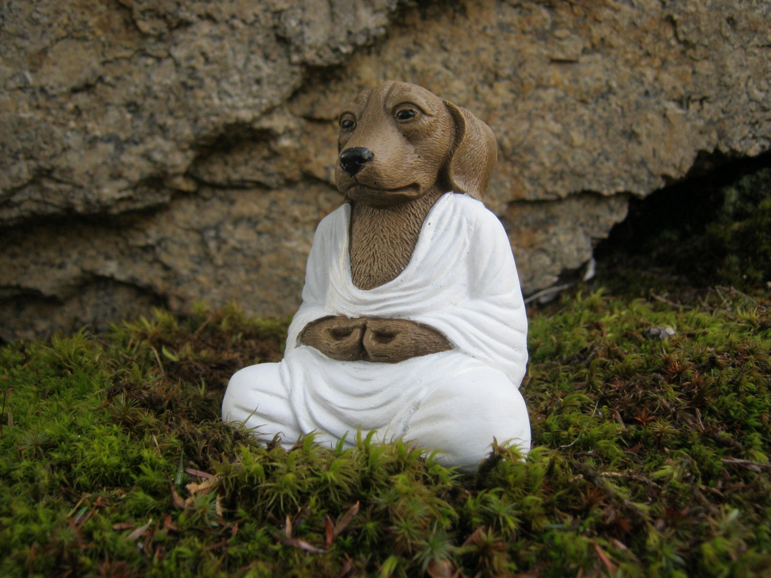 Dog Buddha Meditating Dog Concrete Dog Buddhas Zen Like