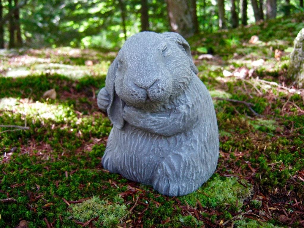 Rabbit statue garden rabbit statue bunny rabbits statue for Statue jardin zen